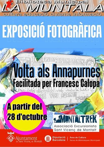 Exposició fotogràfica: Volta als Annapurnes, facilitada per Francesc Calopa. by bibliotecalamuntala