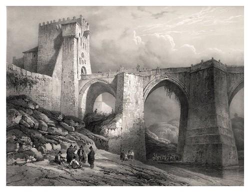 021-Puente de San Martin en Toledo-España artística y monumental..Tomo III- 1842-1850-Genaro Perez de Villa-Amil