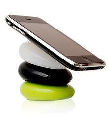 BESETO スマートぺブル iPhone3iPhone4/iPod用スタンド(白、緑) SP-001