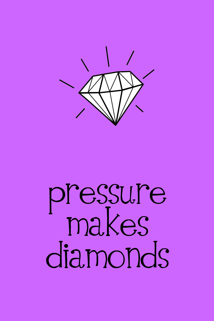Pressure Makes Diamonds - 4x6 - Purple