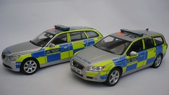 1/43 Met Traffic Police BMW 5 Touring & Volvo V70 Models (alan215067code3models) Tags: new uk london toy leaving volvo cops traffic 5 models police replica gift present bmw british met emergency job rapid touring collector d5 battenburg t6 response 999 143 v70 trafficcops whelen code3 530d