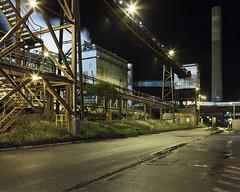 Coal prep road (roundtheplace) Tags: longexposure nightphotography industry night landscape photography australia mining nsw coal wollongong