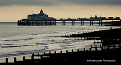 Eastbourne Out of Season (Keith Gooderham) Tags: england copyright holiday beach dark photography sussex coast pier seaside moody south keith shore eastbourne groyne pleasure outofseason gooderham greenshoots kg091031008aweb