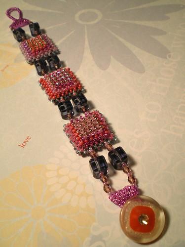 Pink Ice Cubes Bracelet