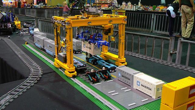 Lego Crane Train of His Lego Crane Layout