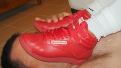 Under Annie's Reebok Freestyle (cyrol2010) Tags: fetish foot freestyle sneakers footwear trample trampling reebok