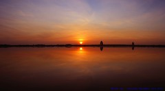 At the going down of the Sun and in the Morning, we will remember them.... (law_keven) Tags: sunset red sea england orange sun seascape water clouds silhouettes atlantic lincolnshire explore seals atlanticocean grimsby cloudage donnanook explore500