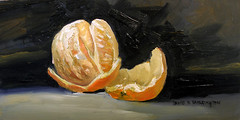 Peeled Orangeby David Fairrington  Oil 2010