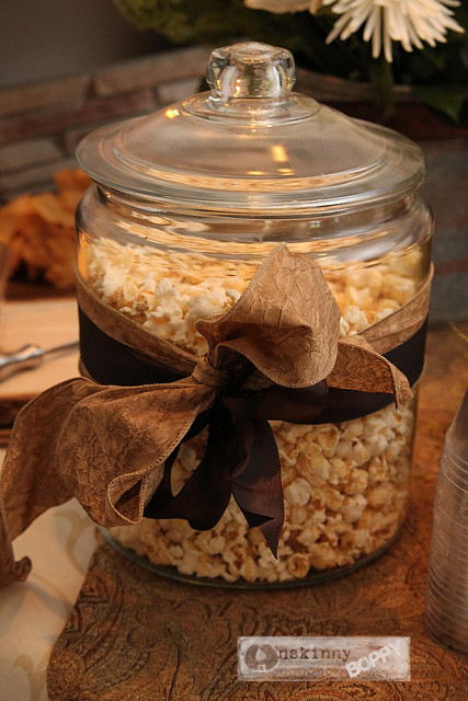 angie's kettle corn in glass jar