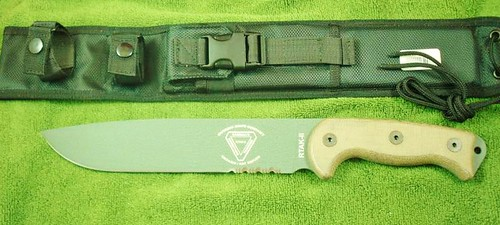 "Ontario Randall RTAK2 Knife Micarta Handle 10.25"" Combo Edge Blade"