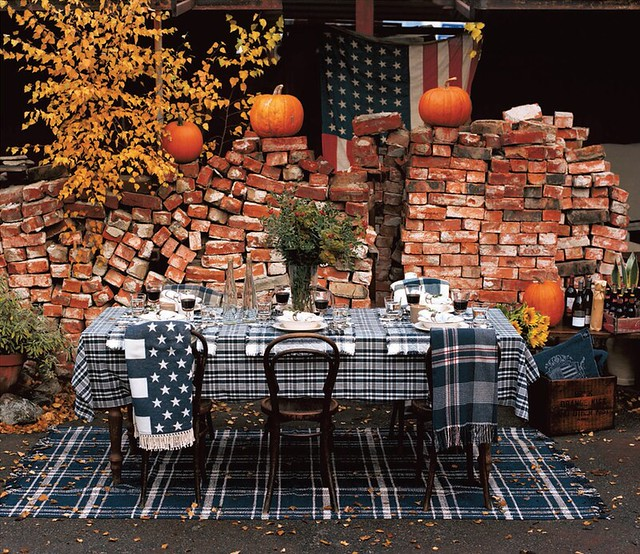 Americana table setting for thanksgiving