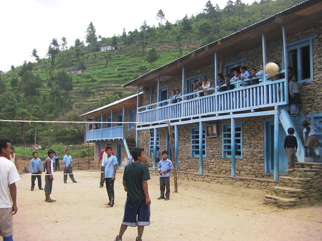 Volleyball in Bumburi School