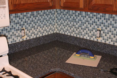 backsplash detail (before grouting)