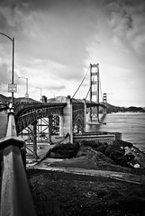 Golden Gate in BW (Magdalena Gonciarz) Tags: sf sanfrancisco bridge blackandwhite bw landscape pacific goldengatebridge goldengate bayarea majitsu magdalenabrymerska