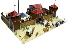 Fort Legoredo (Matija Grguric) Tags: cowboys lego fort creation western wildwest cavalry moc legoredo matijagrguric frankokomljenovic