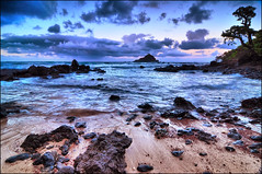 Koki Beach and Alau Island, Hana area, Maui, Hawaii (Don Briggs) Tags: sunset mauihawaii donbriggs hanamauihawaii tokina1116lens nikond5000 kokibeachandalauislandmauihawaii