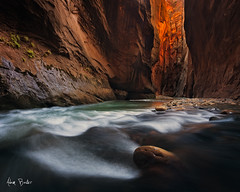 third degree ([Adam Baker]) Tags: park longexposure autumn canon river utah hiking canyon virgin national zion wallstreet narrows 1740
