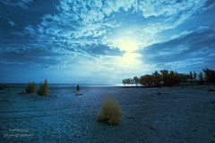Fintas Seaside (mynameismyk) Tags: clouds canon landscape ir seaside infrared kuwait fintas