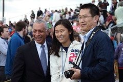 Charles Bolden, Clara Ma, and her Father