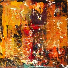 Fire (Patti Agapi) Tags: red orange abstract black art texture painting fire mixedmedia plaster