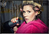 """Paparazzi"" (Kath´s Fotografie) Tags: portrait woman fun bad blond singer blonde frau spass sänger sängerin fön lockenwickler portaitfrau"