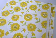 Yellow Floral Cotton Sheet