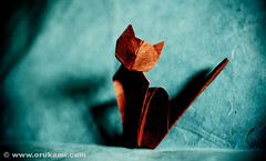 Origami Cat (Himanshu (Mumbai, India)) Tags: sculpture india art wet animal modern cat paper origami handmade contemporary craft poland polska mumbai paperfolding folding modele łódź rzeźba himanshu polskie sztuka składanie nowoczesna papieru papierowe orukami himanshuagrawal himorigami himanshuorigami