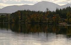 Munro Magic (RoystonVasey) Tags: autumn dog reflection water sunshine canon eos scotland zoom walk ripple great sigma glen loch lochaber lochy gairlochy 1770mm 400d