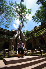 Man and Nature intertwine (chillveers15) Tags: trees ancient ruins cambodia pentax sigma jungle 1020mm angkor wat ta carvings prohm etchings kx aspara