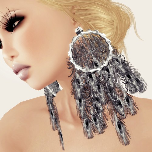 A&A Fashion Earrings Peacock - silver
