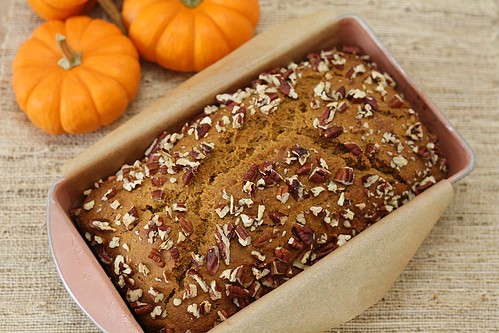 pumpkin bread from above