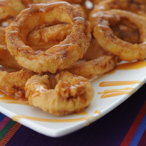 Apple Rings With Cinnamon Cream Syrup For Dipping: Not