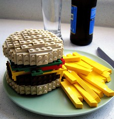 Burger and Fries (Dave Shaddix) Tags: lego fries boilerplateburger