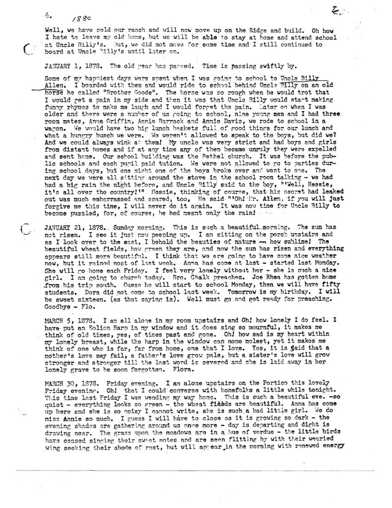 Florence McWhorter Harrington Diary - 06