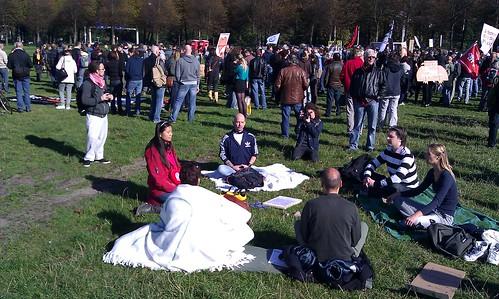 #OccupyDenHaag meditatie