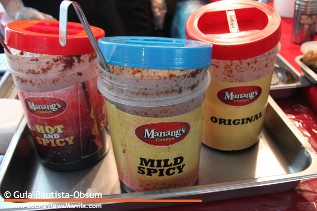 Food Reviews Manila Manang's Chicken sauces
