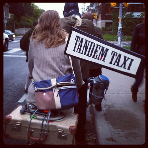 Tandem Taxi #tweedtweeters