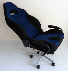 one thing about car seats is that theyre much thicker at the base than normal office chairs so if youre maybe 18m and below you will find yourself car seats office chairs