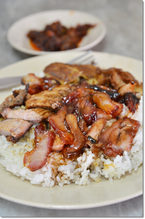 Famous Char Siew Rice @ Jalan Bunga Raya, Melaka