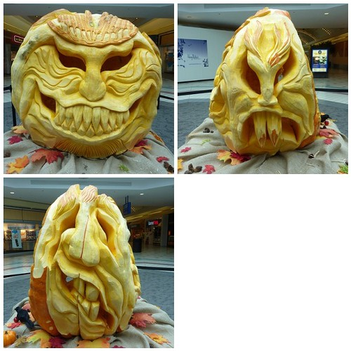 3 sided pumpkin carving