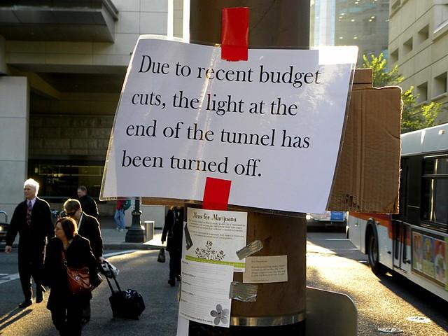 Sign near Occupy Portland camp, Portland, OR, 11/18/11
