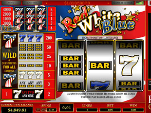 Red White Blue 5 Lines slot game online review