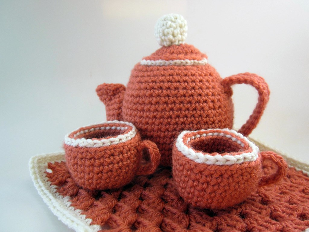 amigurumi tea set