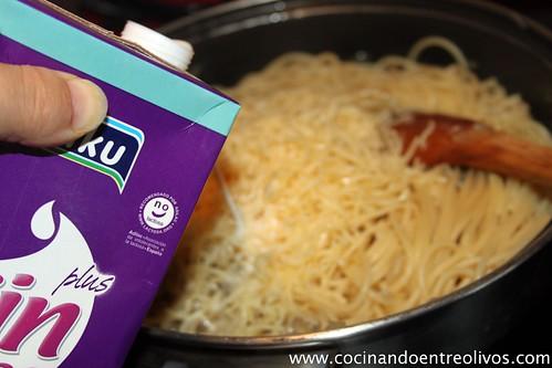 Spaghetti carbonara de setas sin lactosa (10)