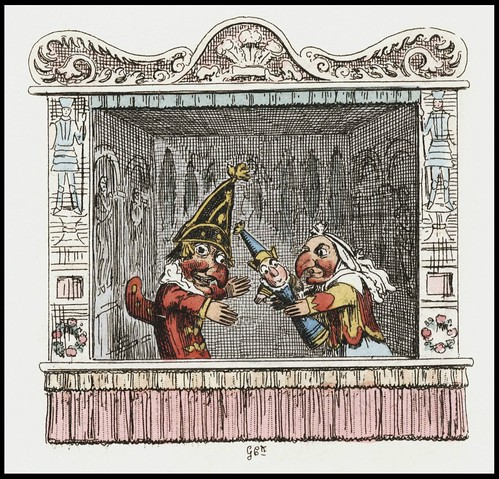 Punch and Judy by George Cruikshank, 1828 k