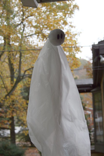 Garbage bag ghost
