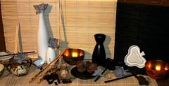 Giappone antico e nuovo  (2011) (Giancarbon3) Tags: giappone bacchette sakazuki