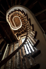 spiral. (stevenbley) Tags: wood ny newyork abandoned church bells rust decay faith chapel steeple urbanexploration decayed urbanexploring churchbells urbex sneak worhsip guerillahistorian dpsabandoned