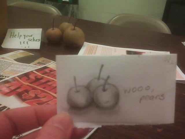 Wooo, pears