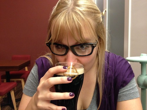 Hipster Wife drinks Stout